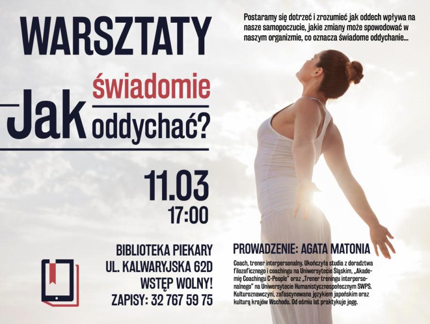 (11.03) Warsztat w Piekarach Śląskich – Jak świadomie oddychać?